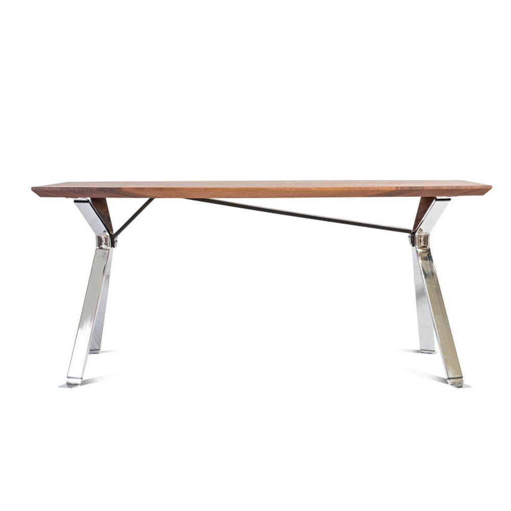 Jedálenský stôl s doskou z orechového dreva Charlie Pommier Serious, 200 x 100 cm