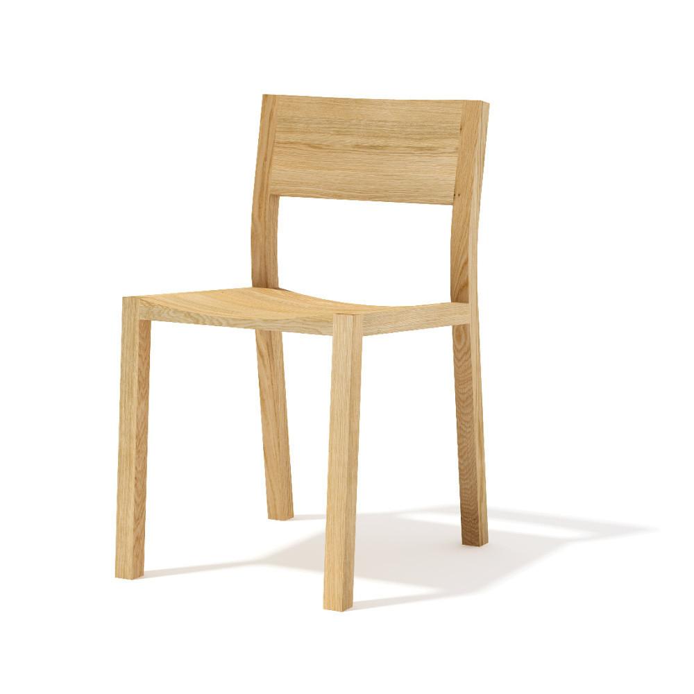Jedálenská stolička z masívneho dubového dreva Javorina Leia