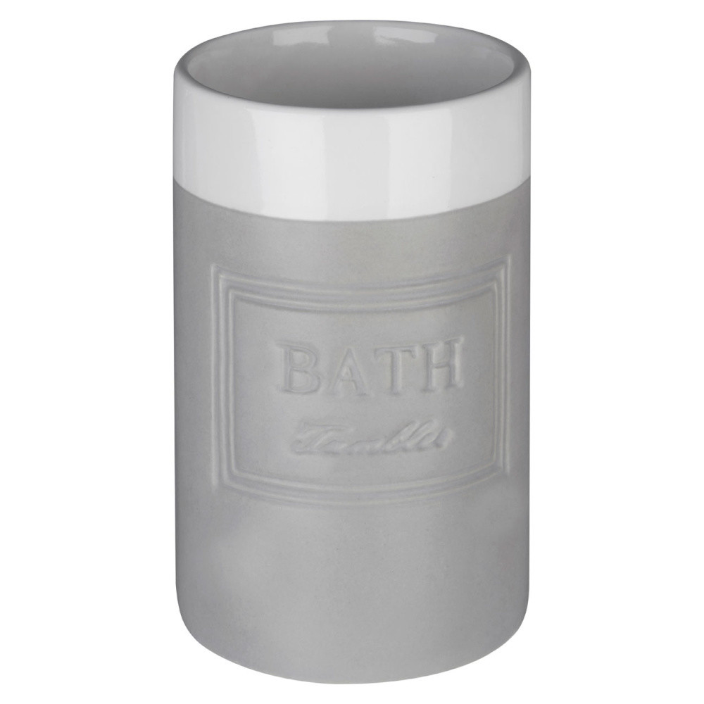 Bielo-sivý pohárik Premier Housewares Vida