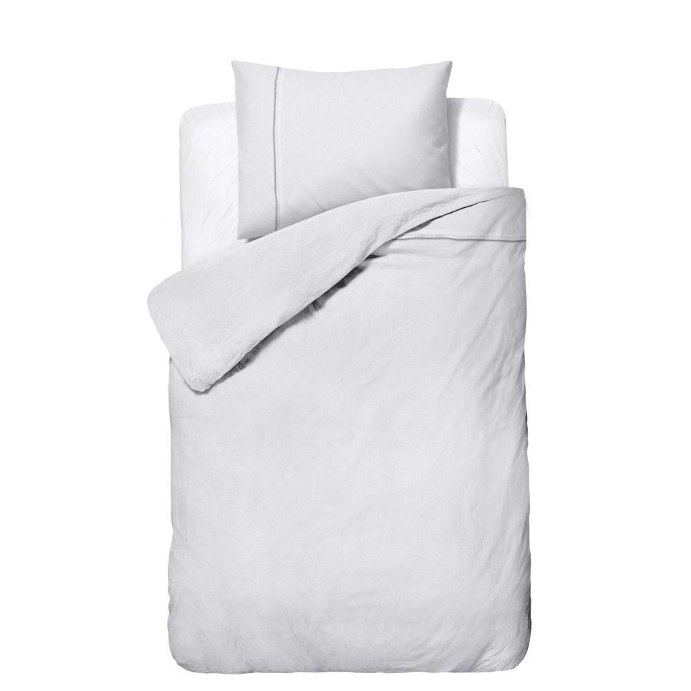 Biele obliečky z mikroperkálu Zensation Satin Monte Carlo, 140 x 200 cm