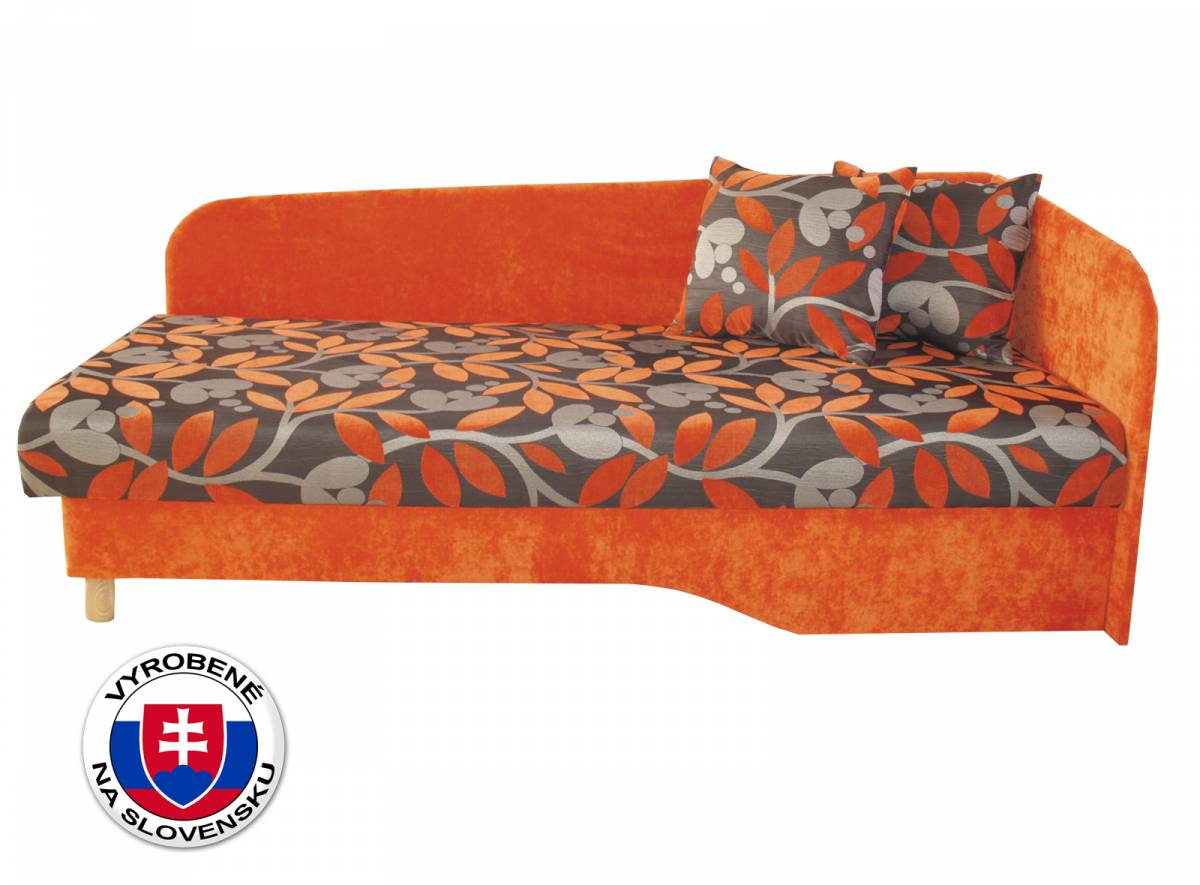Jednolôžková posteľ (váľanda) 194 cm Benab Joka plus (P) (s roštom, matracom)