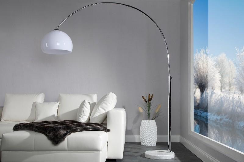 Stojaca lampa BIG BOW IV - biela