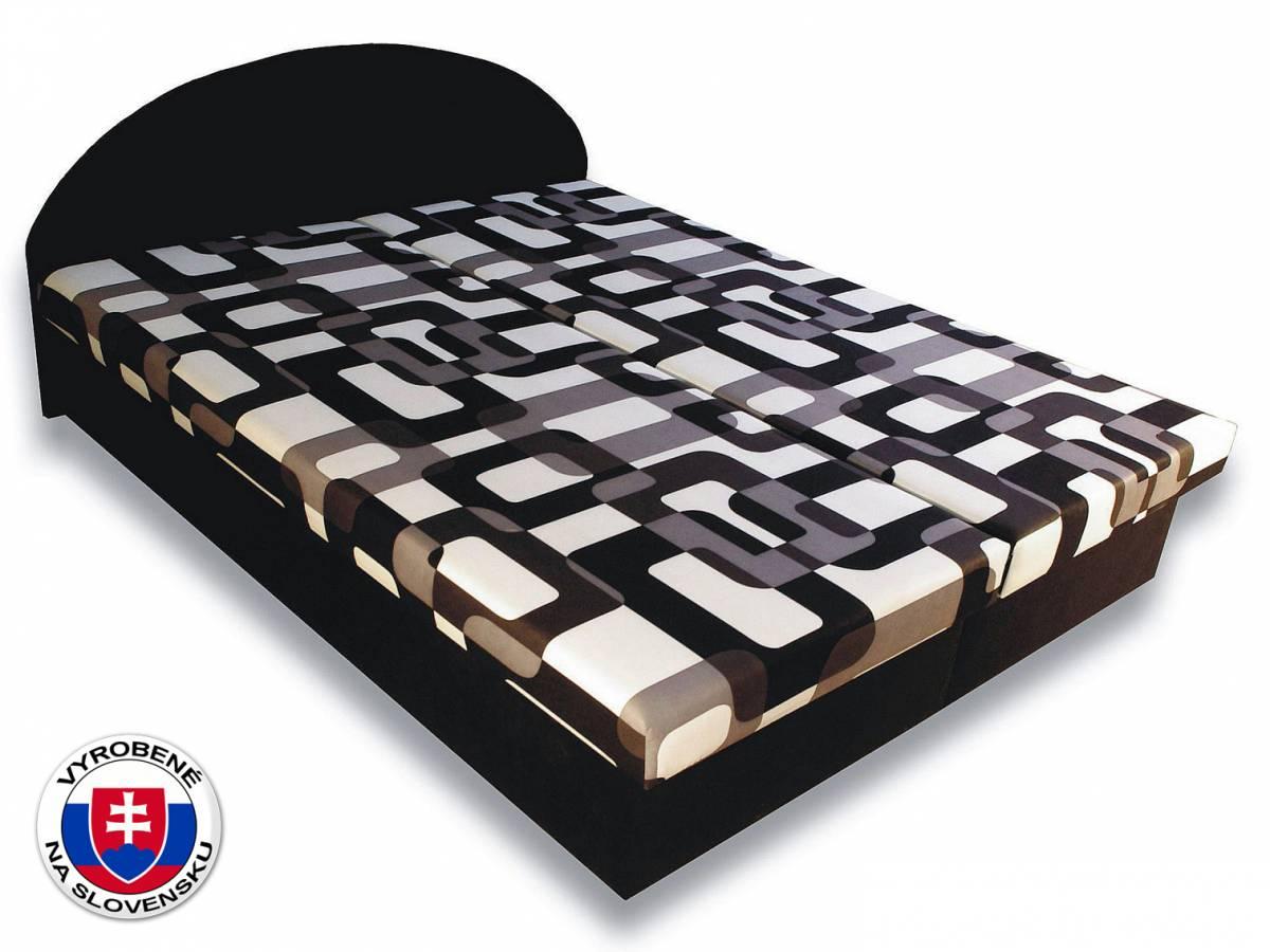 Manželská posteľ 160 cm Elena (s penovými matracmi)