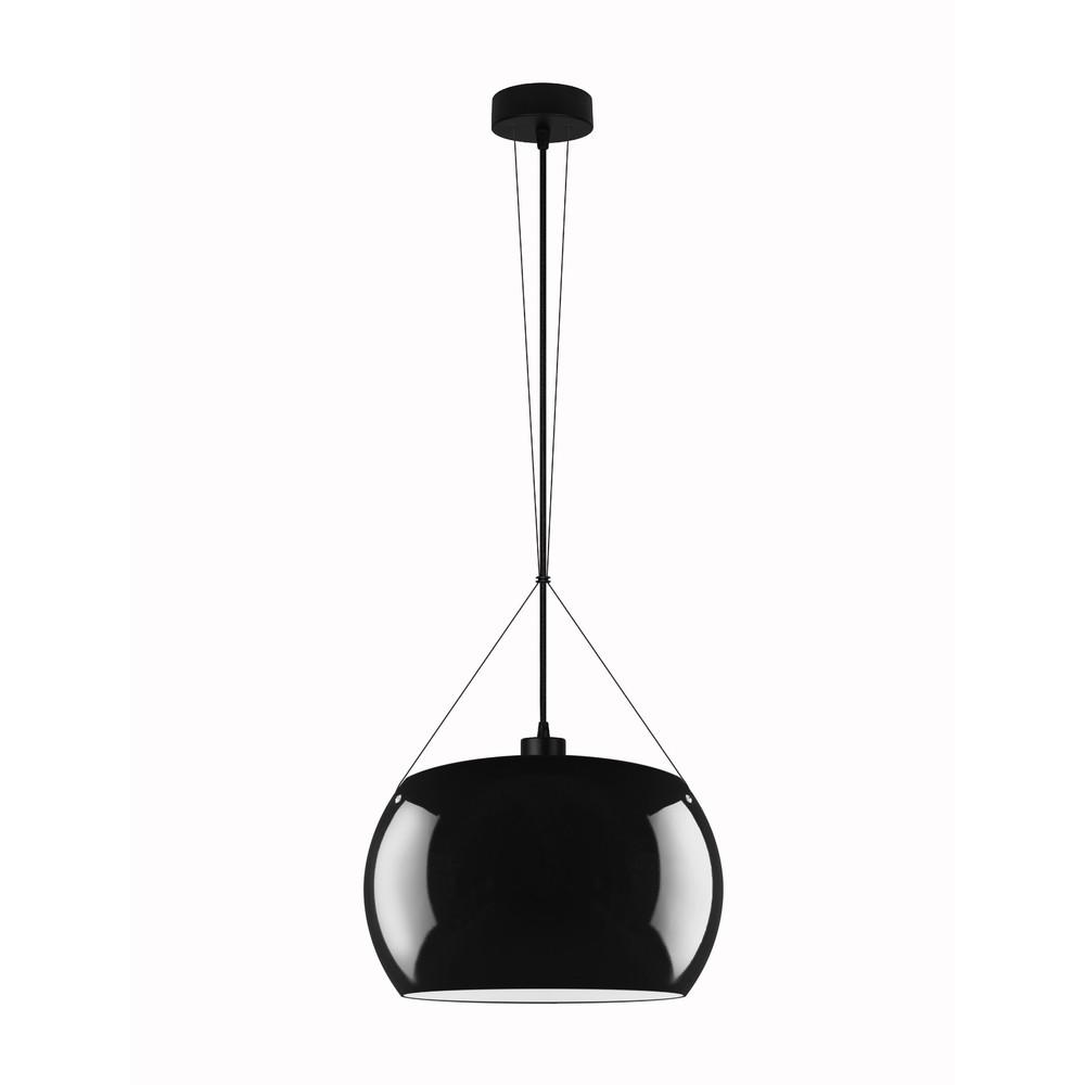 Čierne lesklé závesné svietidlo Sotto Luce Momo