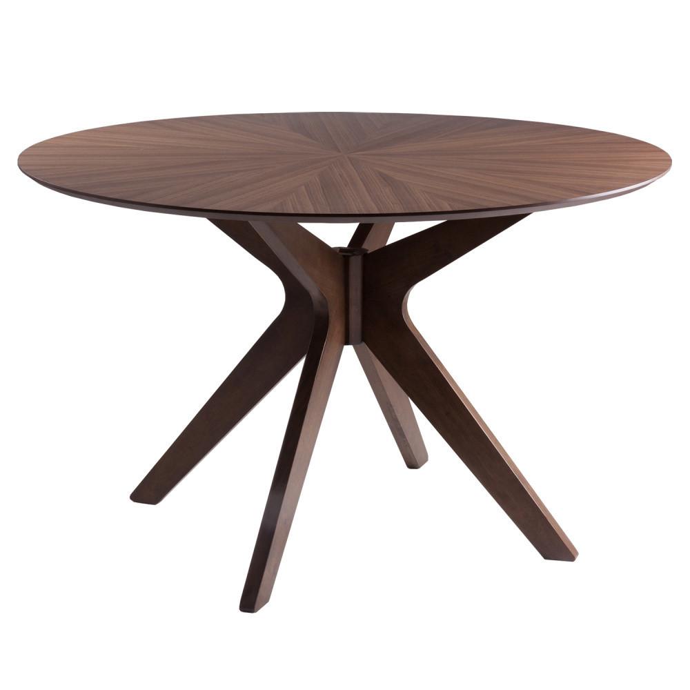 Jedálenský stôl vdekore orechového dreva sømcasa Carmel, ⌀ 120cm
