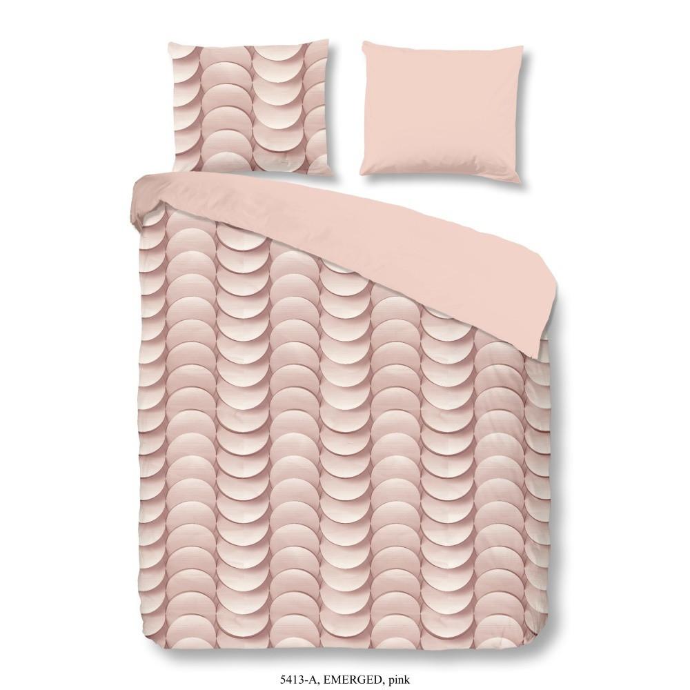 Ružové bavlnené obliečky Müller Textiel Emerged, 200x200cm
