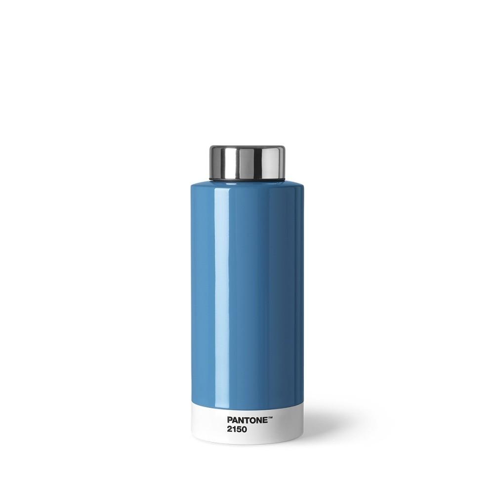 Modrá fľaša z antikoro ocele Pantone, 630 ml