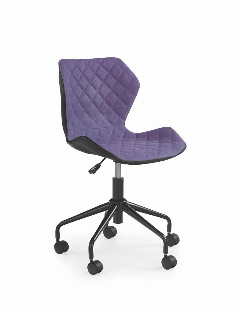 Detská stolička Matrix (fialová + čierna)