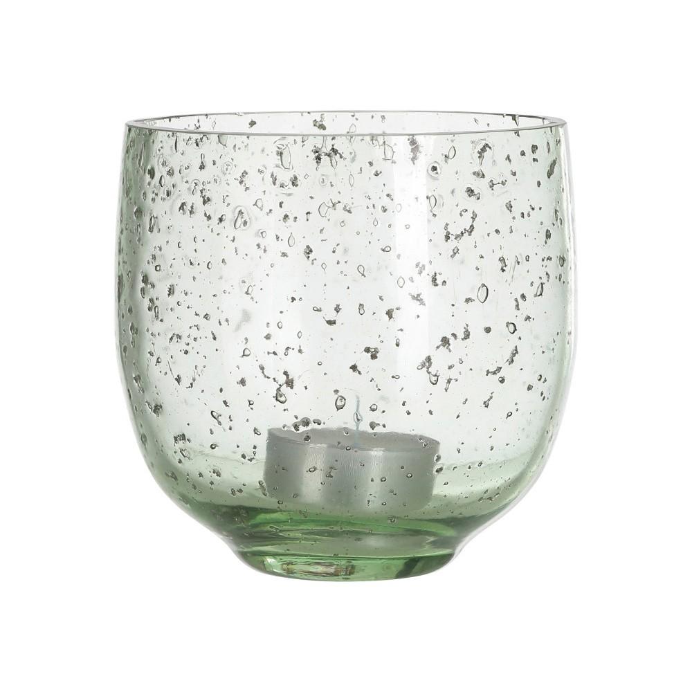 Zelený sklenený svietnik A Simple Mess, ⌀ 10 cm