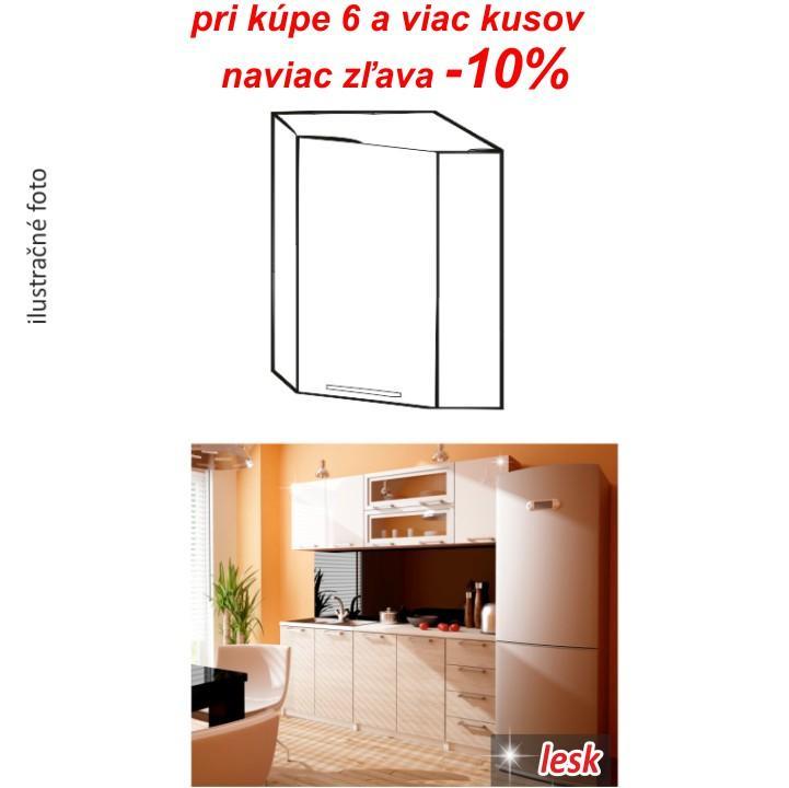 TEMPO KONDELA Kuchynská skrinka, biely lesk, ITA NEW GN-60