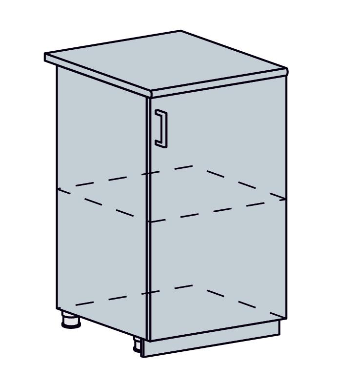 PROVENSAL dolná 1-dverová skrinka 50D vanilka