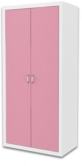 Detská skriňa FILIP / COLOR   Farba: biela / ružová