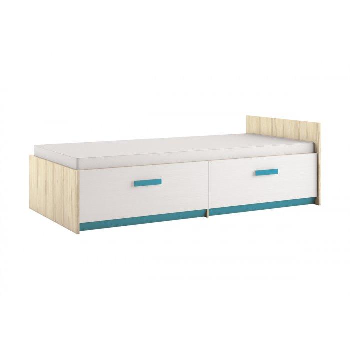 ML MEBLE BEST 17 90 posteľ - breza / biela linea / atlantic
