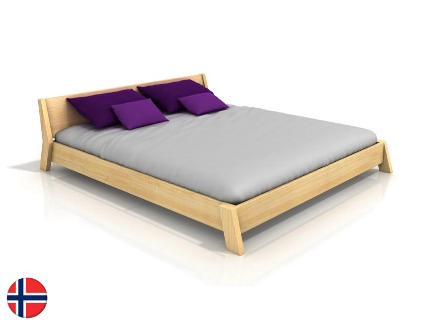 Manželská posteľ 180 cm Naturlig Skjolden (borovica) (s roštom)