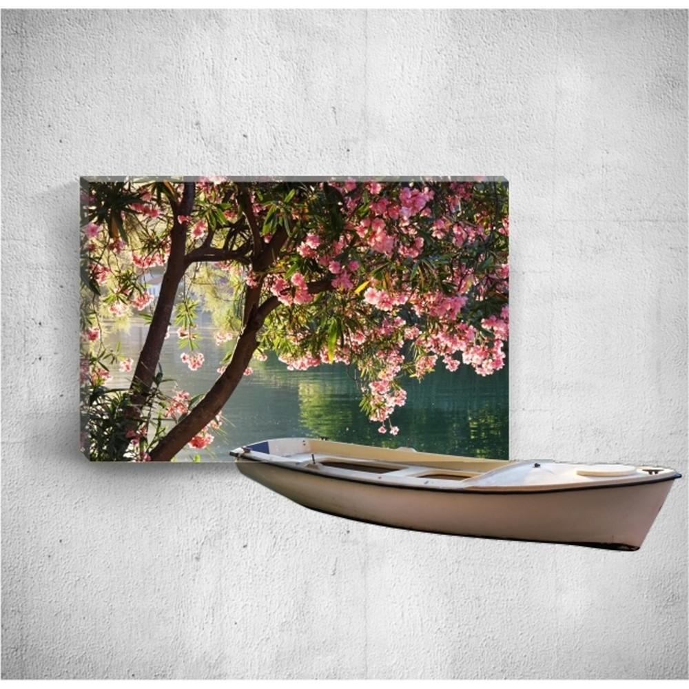 Nástenný 3D obraz Mosticx Boat On River, 40×60 cm