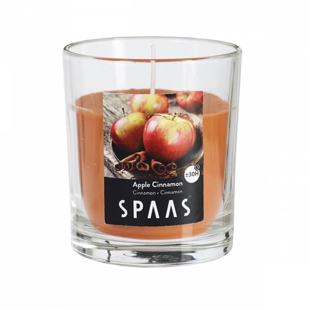 SPAAS Vonná sviečka v skle Apple Cinnamon, 7 cm , 7 cm