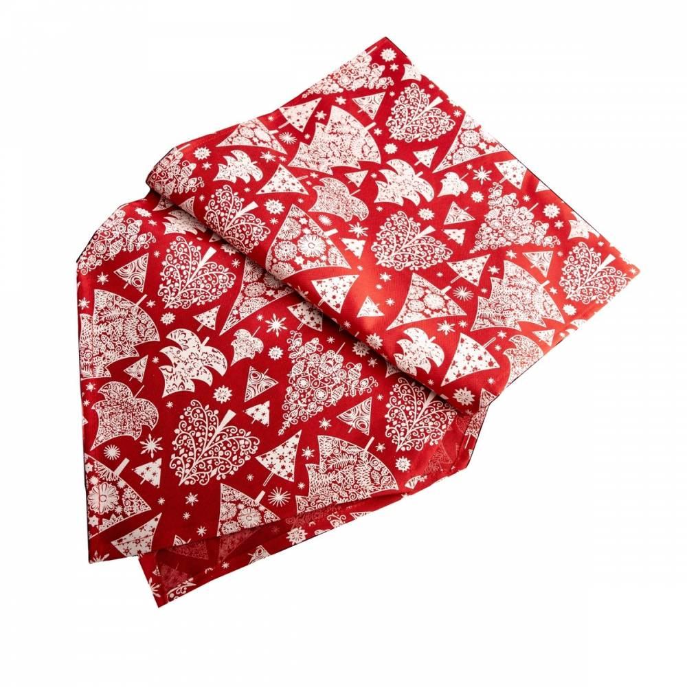 Dakls Vianočný behúň Stromček červená, 32 x 140 cm