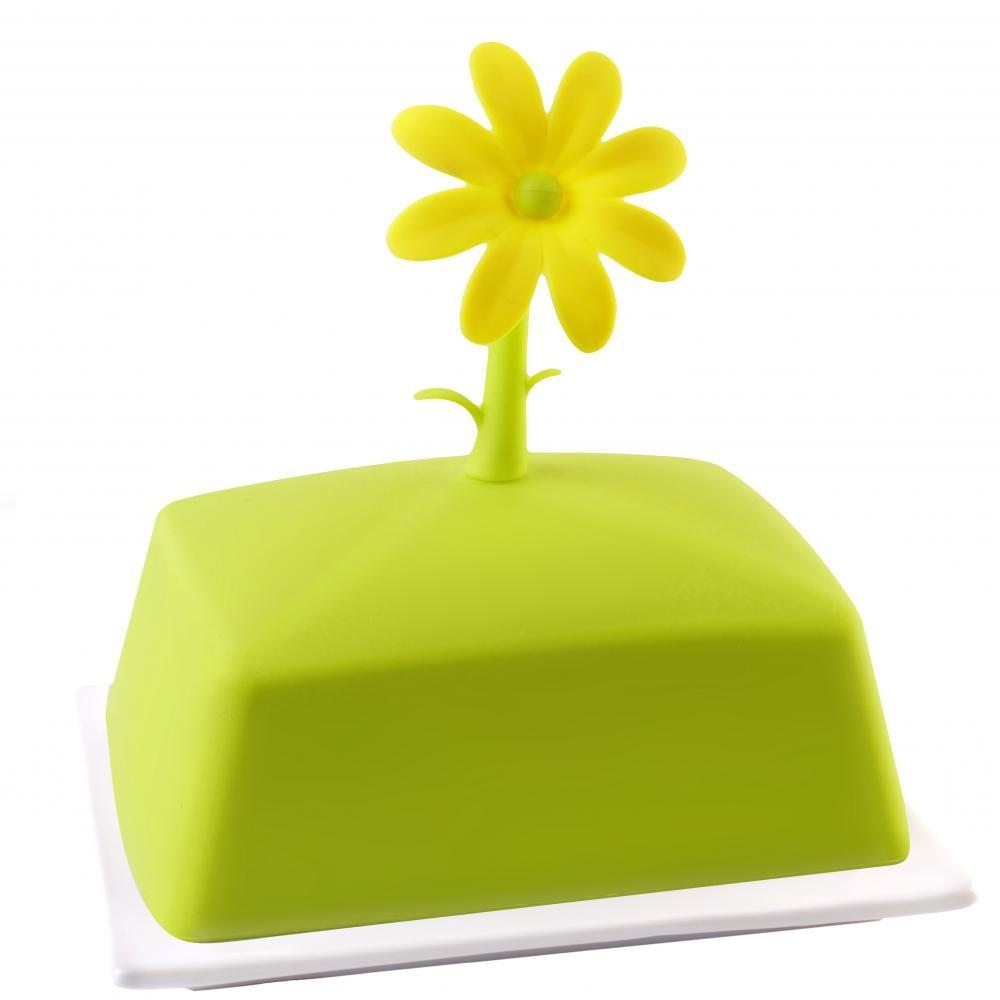 Zelená nádoba na maslo Vialli Design Livio