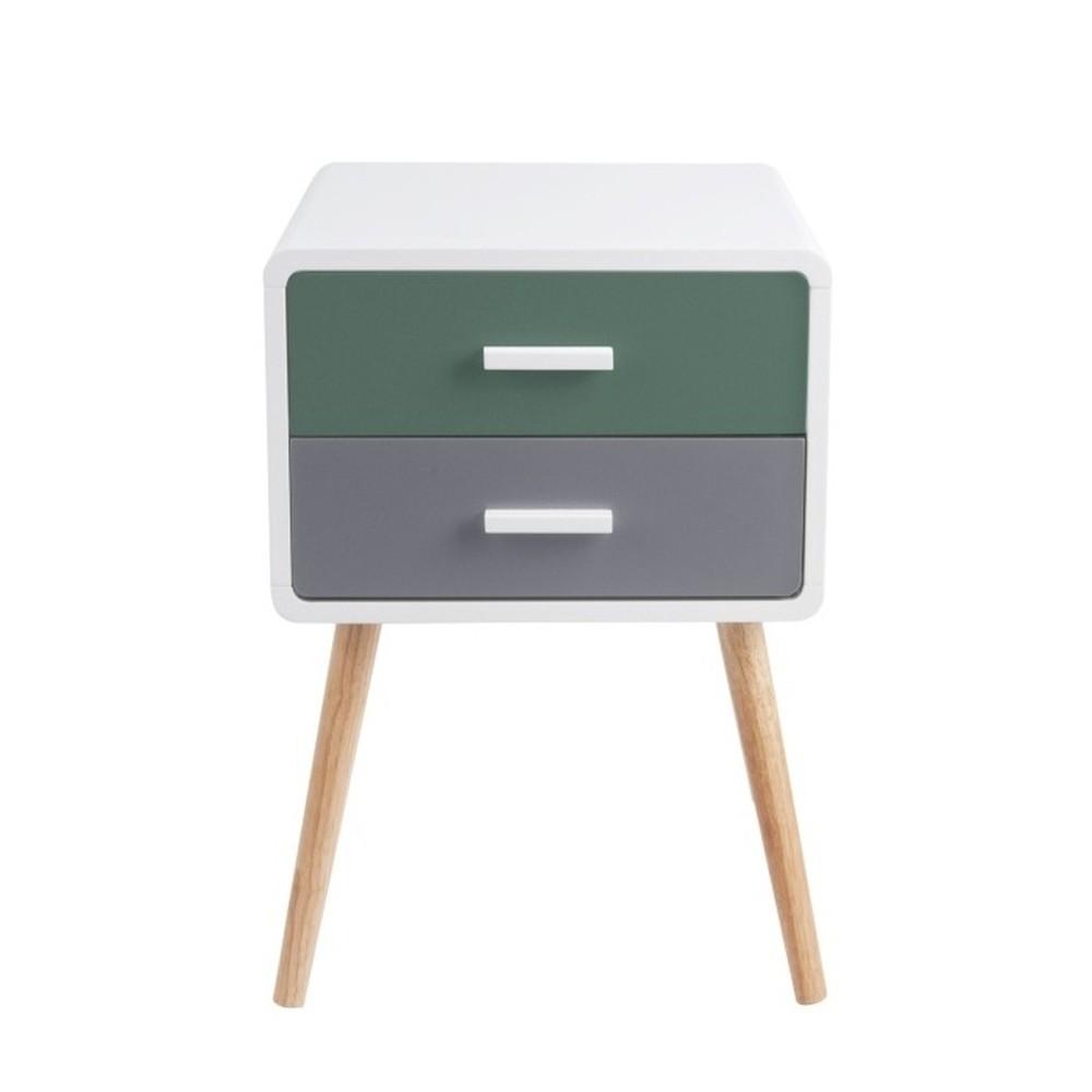 Odkladací stolík s 2 zásuvkami Leitmotiv Neat Tropic