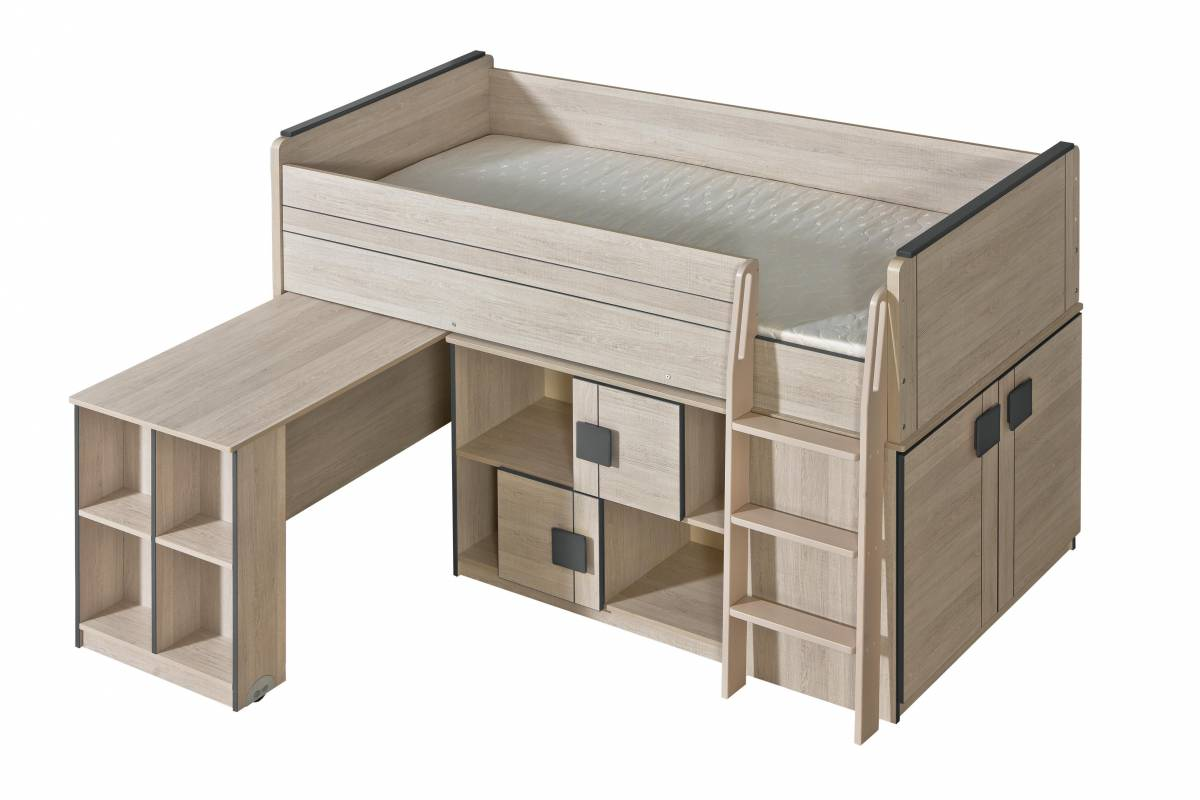 Poschodová posteľ 90 cm G19 (s roštom)