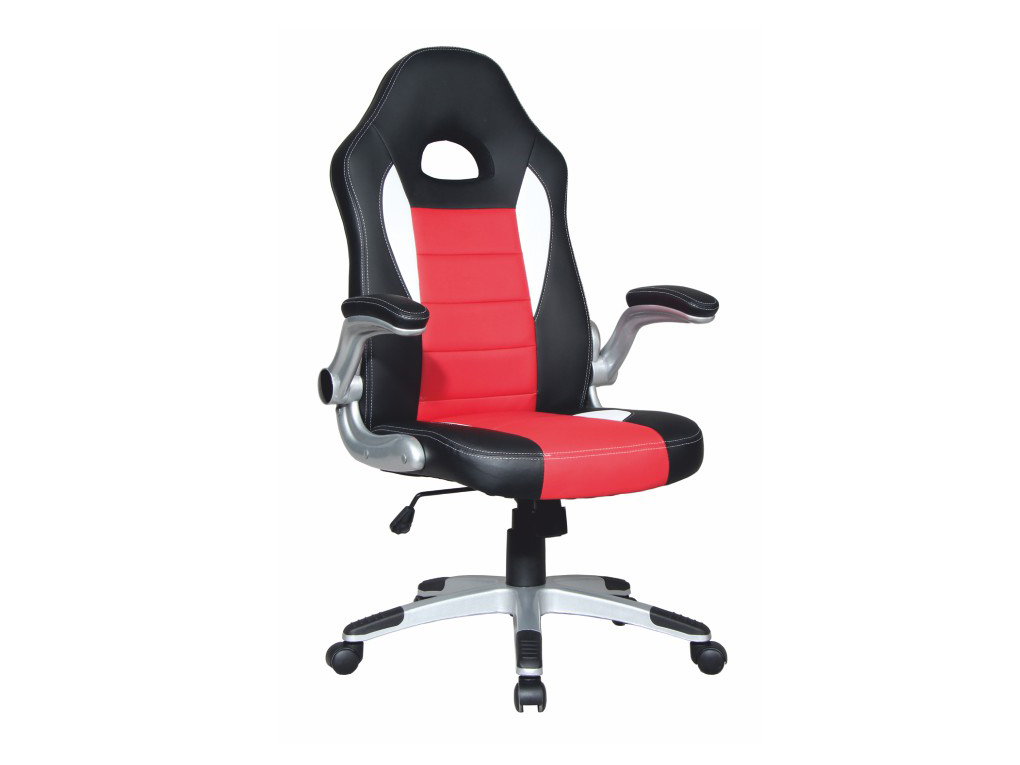 Kancelárske kreslo Marvin (čierna + červená + biela)