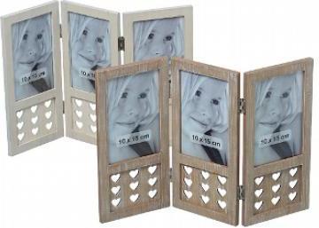 fotorám drevený na tri foto 37 x 25 cm