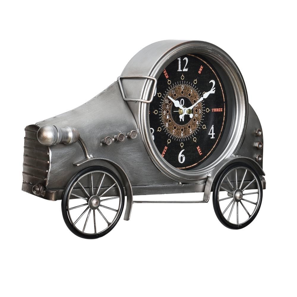 [en.casa]® Nástenné hodiny v tvare Oldtimeru - analógové - 37 x 8 x 25 cm - farebné – sklo