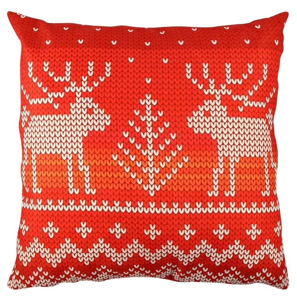 Vankúš s jeleňmi Christmas Knitting
