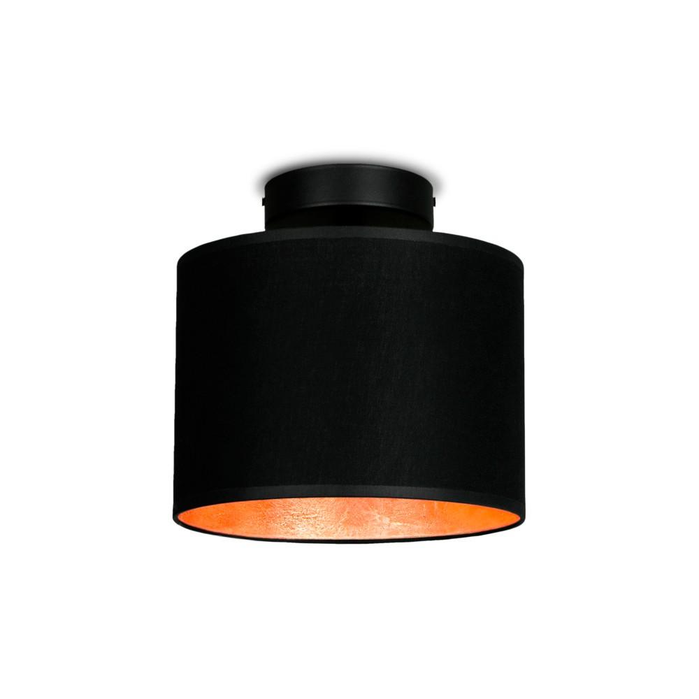 Čierno-medené stropné svietidlo Sotto Luce MIKA Elementar XS CP