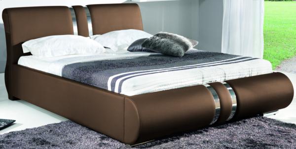 BOG-FRAN COMBI 160 posteľ s roštom - hnedá