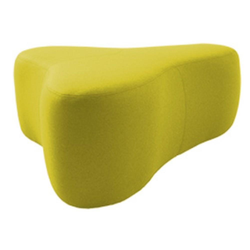Žltý puf Softline Chat Felt Melange Yellow, dĺžka 130 cm
