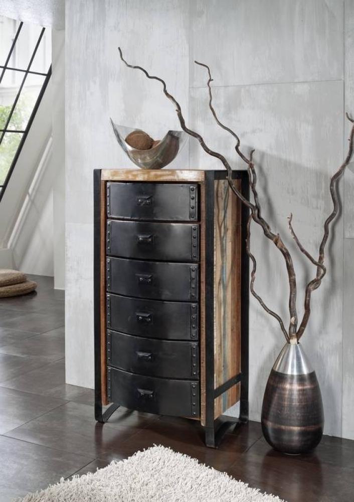 INDUSTRIAL komoda #09, liatina a staré drevo
