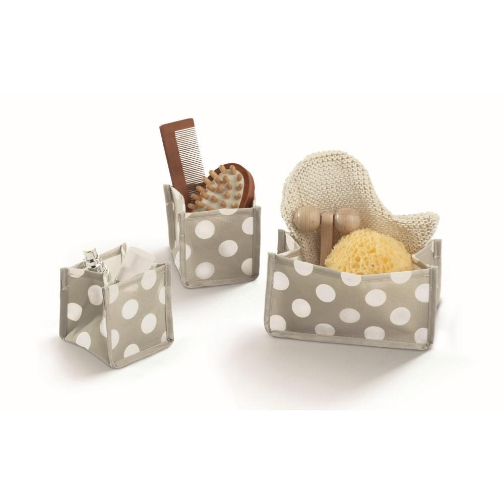 Sada 3 sivých úložných boxov Cosatto Jolie