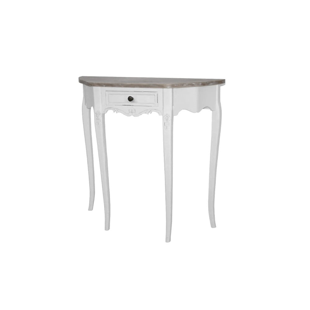 Biely konzolový stôl z topoľového dreva Livin Hill Rimini