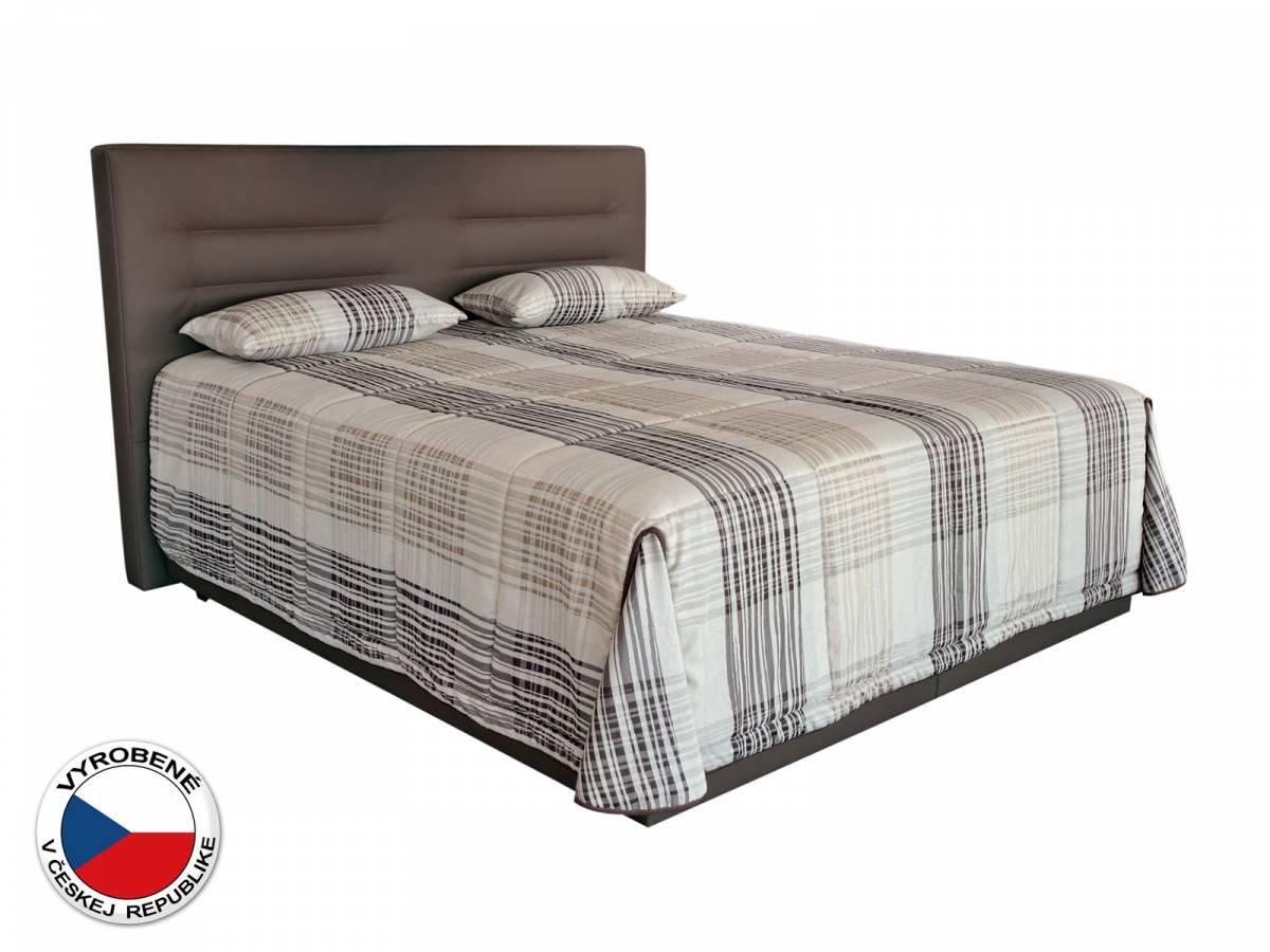 Manželská posteľ 180 cm Blanár Real (hnedá) (s roštami a matracom Nelly Plus)