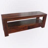 Furniture nábytok  Masívny konferenčný stolík / TV stolík s 2 zásuvkami  z Palisanderu  Hari  140x42x50 cm
