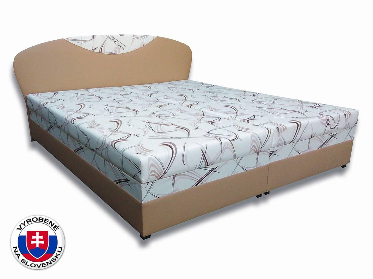 Manželská posteľ 160 cm Izabela 3 (s penovými matracmi)