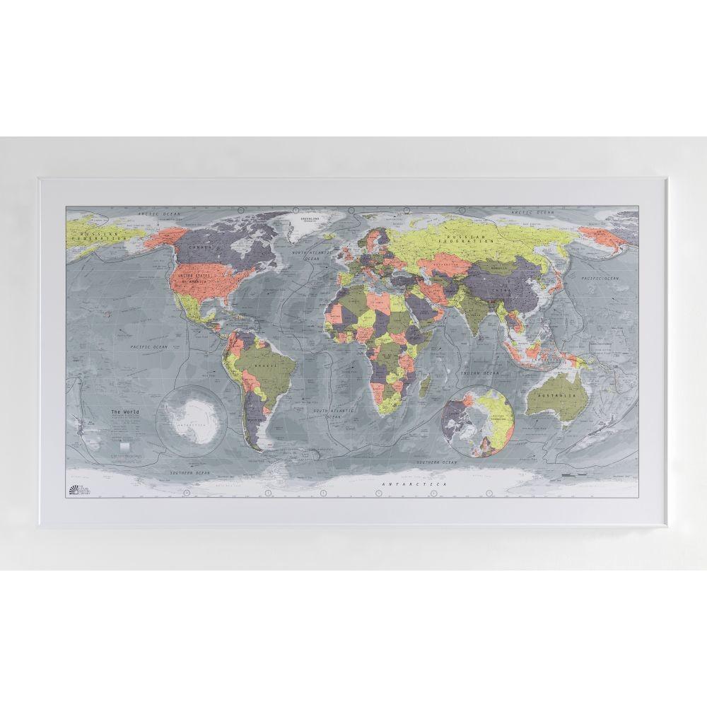 Magnetická mapa sveta Classic World Map, 130x72cm