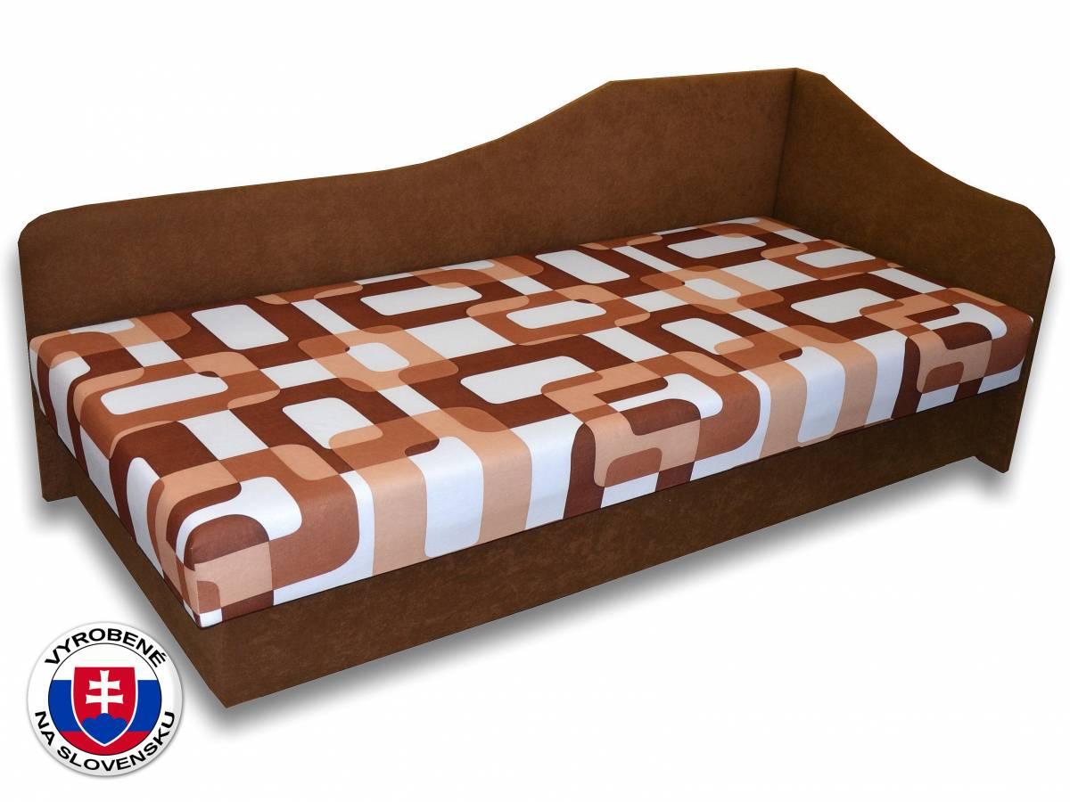 Jednolôžková posteľ (váľanda) 80 cm Lux 87 (Hnedá 13 + Gusto 11) (P)