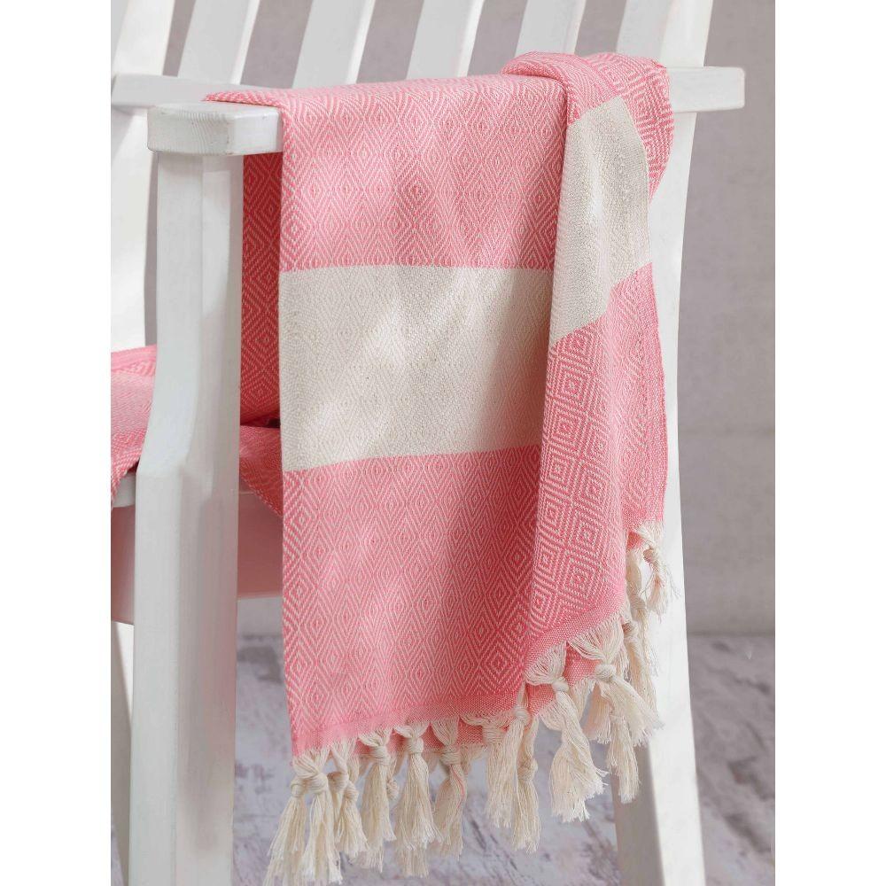 Hammam osuška Elmas Pink, 100×180 cm
