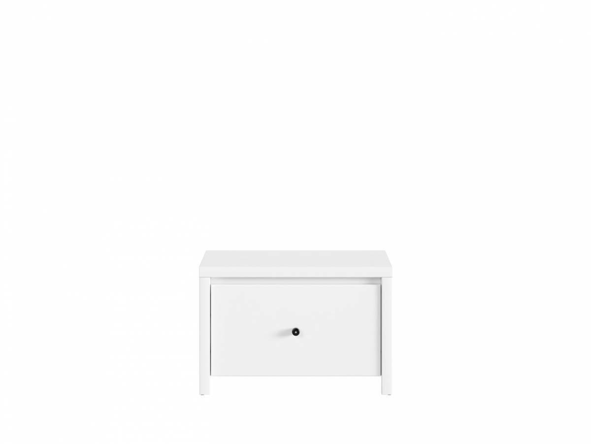 Botník (skrinka na topánky) Karet SBUT/60 (biela + biela matná)