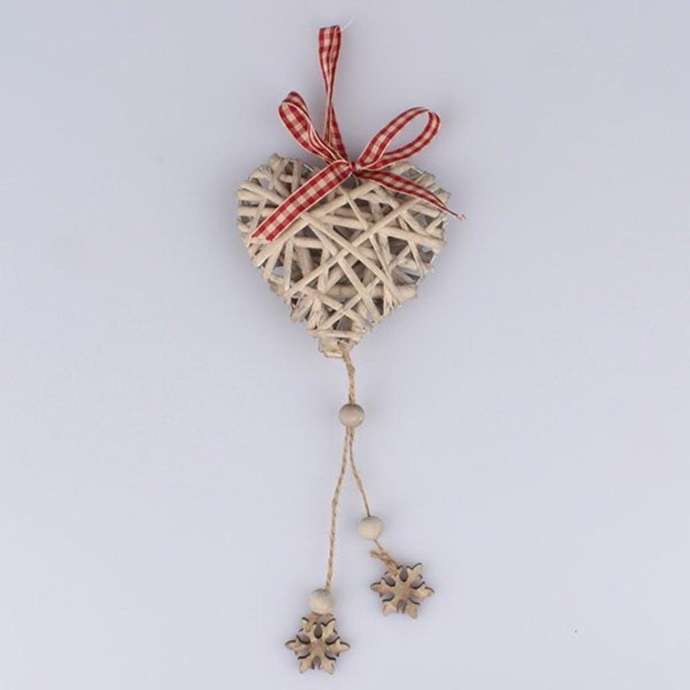 Ratanové závesné dekoratívne srdce Dakls Snowflake