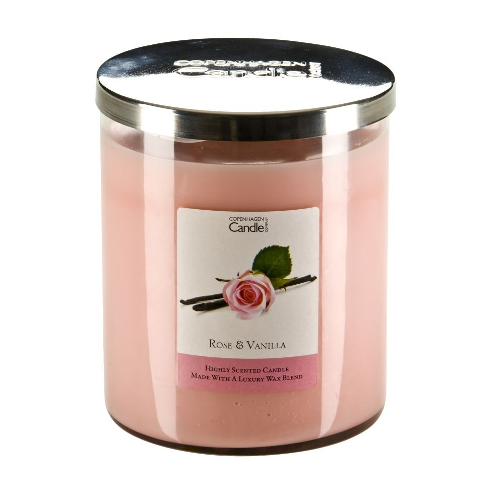 Aromatická sviečka Copenhagen Candles Rose & Vanilla, doba horenia 70hodín