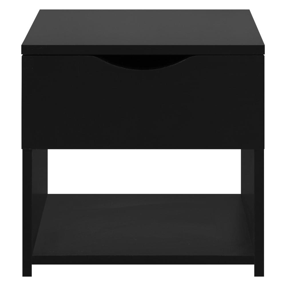 Čierny nočný stolík so zásuvkou Artemob Letty