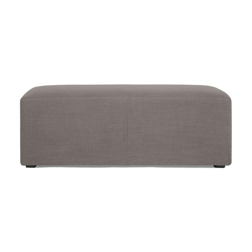 Sivý puf Vivonita Grace Linen, 122 × 46 cm