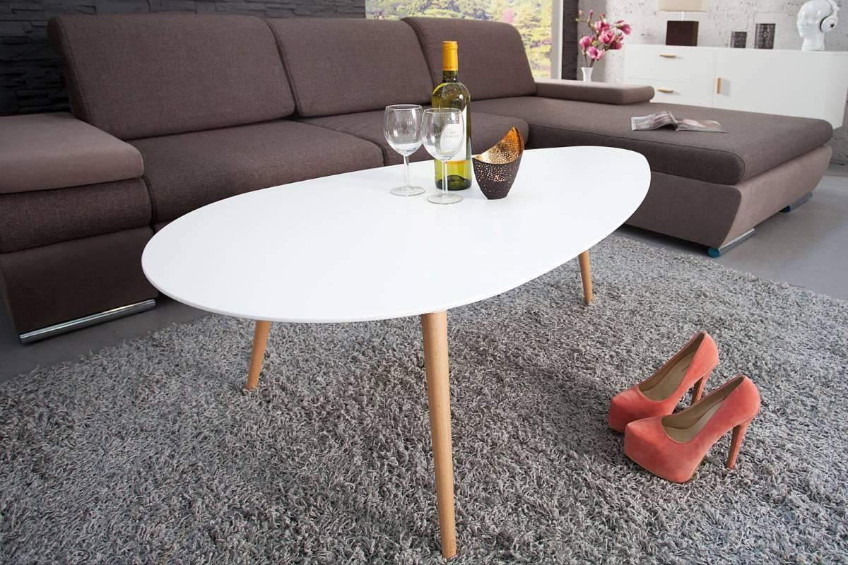 Konferenčný stolík SCANIA MEISTER 115cm - biela