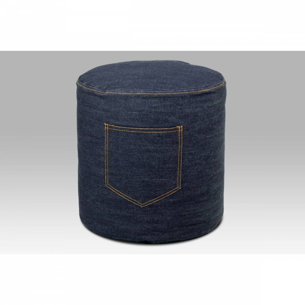 Látkový taburet Jeans, modrá