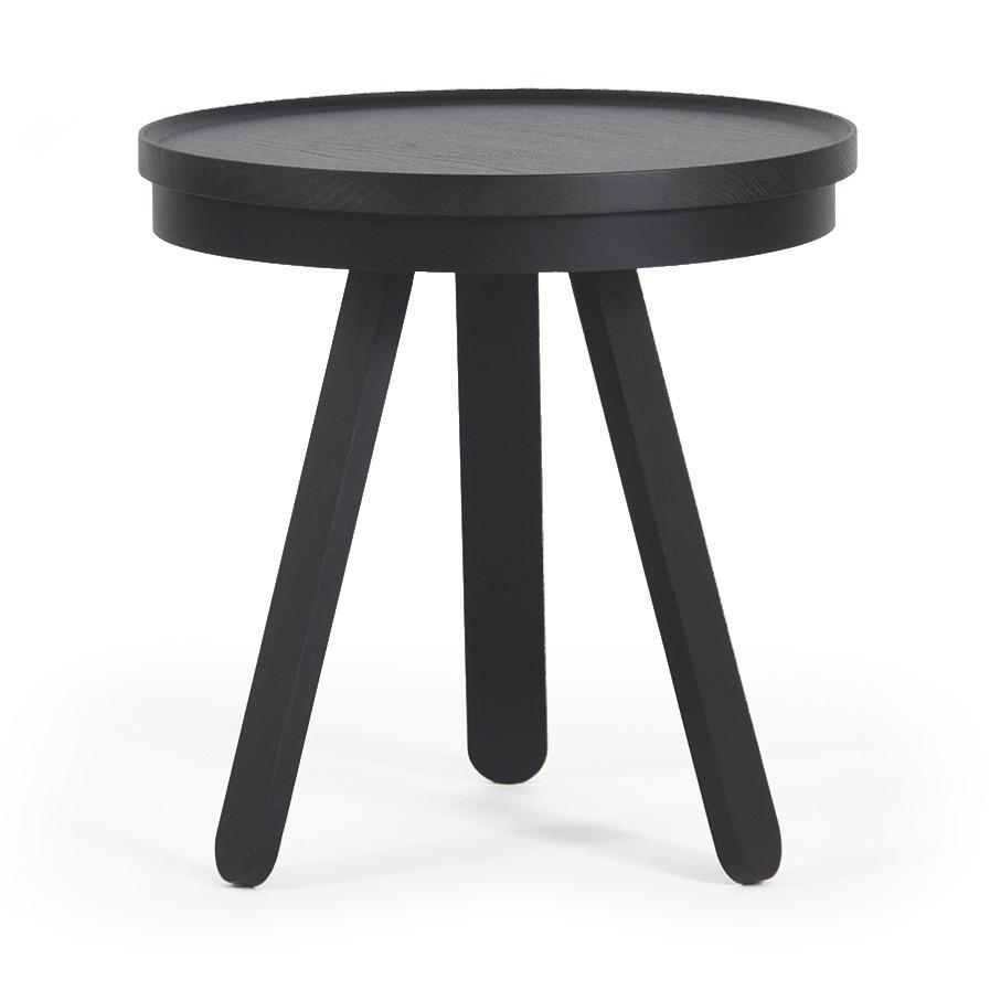 Čierny odkladací stolík Woodendot Batea Small