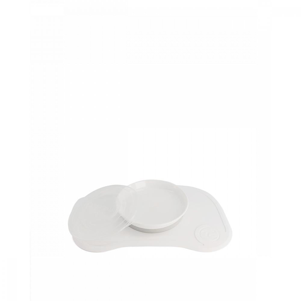 Twistshake Podložka Click-mat Mini s tanierom, biela