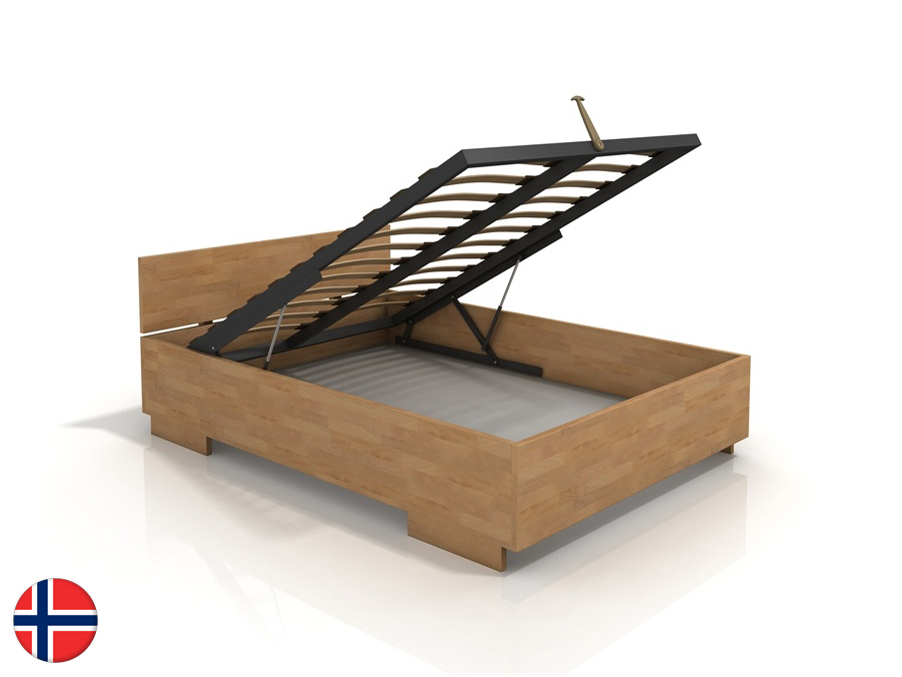 Manželská posteľ 160 cm Naturlig Larsos High BC (buk) (s roštom)